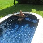 Pam in private plunge pool off room