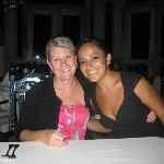 Pam and Dining room Hostess Briselda at Emiliano Rest. on site