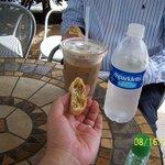 Iced Mocha, Bottled Water & Pastry