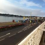 view into Weymouth from balcony room 6