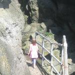 Entering one of the caves (alone or not?)