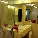 Deluxe room- bathroom. big separate shower