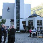 outside hotel Geirangerfjord