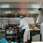 Chef hard at work