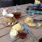 Tea and scones out on the veranda