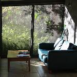 The screened veranda