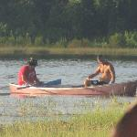 Our family enjoying the canoe on the Beautiful lake.