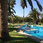 Der Innenhof von Lycasti mit dem schönen Pool