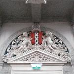 Entrance below the organ