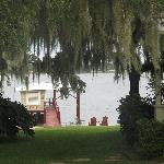 A view of property that overlooks the boat dock