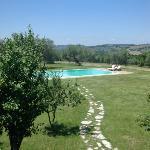 la piscina dal balcone