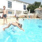 Kids diving @ Frigiliana pool