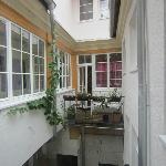 The internal balcony/courtyard which the windows of the living room faced into
