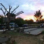 Tree house, boules and an amazing sunset