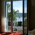 Aussicht aus unserem Zimmer Richtung See