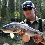 Jonathan and a rainbow trout