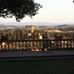 view of Tuscany from the terrace
