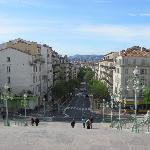 Blick vom Bahnhofsplatz
