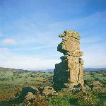 Bowerman's Nose - a well-known landmark nearby on Dartmoor.