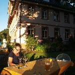 Ordering an evening meal al fresco at Landhaus Hechtsberg
