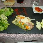 terrine de légumes au fois gras