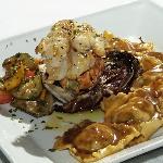 Brisket Ravioli & Lobster Tail