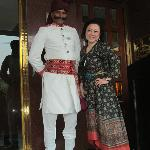 with Hotel staffs in Indian costume
