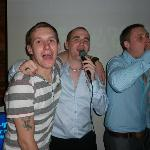 The lads singing karoke saturday night