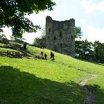 The castle remains