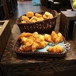 The delicious croissants