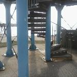 Steps to the upper deck and 360% viewing point