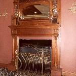 Fireplace near the Reception
