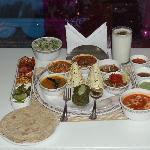 the 'yellow chilli' thali