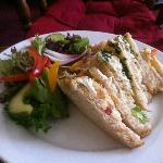 goats cheese sandwich - yum! I've had a nibble here also!