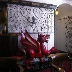 Welsh Dragon in the lounge bar area