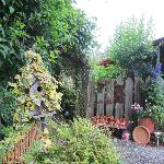Artfully arranged garden treasures