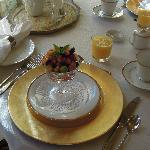 Elegant and delicious breakfast