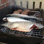 the 3 trout we caught for our tea!