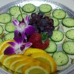 A cucumber platter