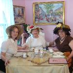 Just some of our lovely ladies that enjoy tea and conversation