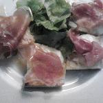 cristini with prosciutto crudo and mozzarella
