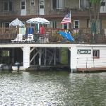 The boathouse and deck