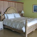 King room - there are sliding glass doors to view the beach from the bed