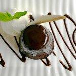 Cumin chocolate fondant