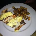 Egg gyro and potatoes.