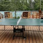 Ping-pong on the river deck