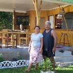 Sara & Masi outside the dining area