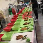 Platting the test-tasters in Relish's kitchen