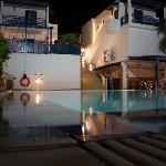 swimming pool by the evening