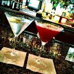 Martini's made at hotel bar